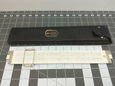 Vintage Frederick Post Co. Versalog Slide Rule #1450 Hemmi Japan Leather Case