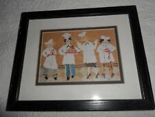 "Magic Chefs, Print, Black Framed,Matted , 9"" x 12"""