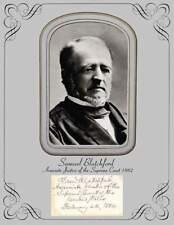 Associate Justice US Supreme Court Samuel Blatchford  Photo & Autograph