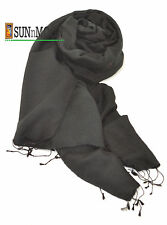 New 100%Finest Black Water Pashmina Women Men Scarf Shawl Stole Soft Wrap Nepal