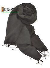 New 100%Finest Black Water Pashmina Women Men Scarf Shawl Stole Soft Wrap Nepal