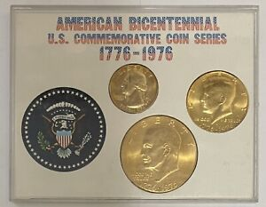 "1776-1976 S American Bicentennial U.S. Commemorative Coin Series ""Gold Plated"""