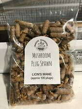 Lion's Mane Mushroom Plug Spawn 100x - FREE USA shipping