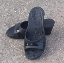 CROCS Sassari Wedge Comfort Slides Sandals Women's Size 7 (Fast Shipping) EUC