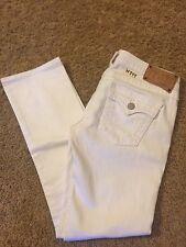 Women's VINTAGE TRUE RELIGION Sz 28 White Low Rise St-Leg Jeans Some lite stains