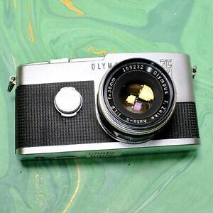 Olympus Pen F 35mm half frame SLR camera w/ Zuiko 38mm f/1.8 lens Film Tested!