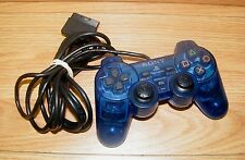 Sony (SCPH-10010) Clear Blue Wired Analog Controller For PlayStation PS1 & PS2