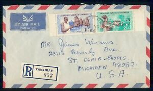 Mayfairstamps TANZANIA COMMERCIAL 1966 COVER ZANZIBAR REGISTERED AIR MAIL wwi810
