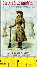 Miniature   Annie Oakley  Sign   -   Dollshouse 1:12 scale