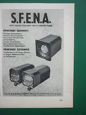 1959 PUB SFENA NEUILLY NAVIGATION AERIENNE GYROSCOPES COMPAS FRENCH AD
