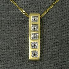 .20 CT 14 KT Genuine Diamond Pendant - 20 diamonds in a 5-stone pendant design