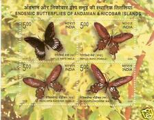 India Miniature Sheet Stamps 2008 Butterfly