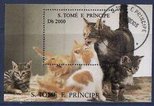 bloc  S. Tomé E Principe   chats                      h