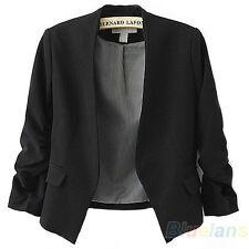 Slim Design Womens Candy Color Blazer Office Lady Solid Tops Coat Jacket BF1U