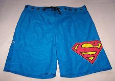 Superman Logo Mens Blue Printed Board Shorts Size L New