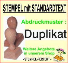 Bürostempel  Verwaltungsstempel Firmenstempel Holzstempel : Duplikat -  M 2