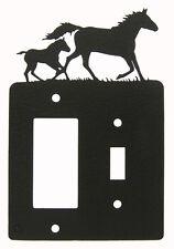 Mare & Foal Horse Single Switch & Rocker Cover Plate