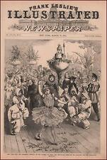NEW YORK CITY CHILDRENS CARNIVAL, COSTUMES, ICE QUEEN, SNOW FLAKE DANCE 1878