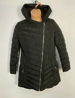 WOMENS NEXT SIZE UK 14 PLAIN BLACK CASUAL WINTER PADDED RAIN COAT HOOD JACKET