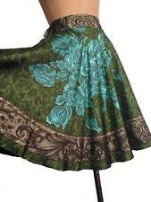 NWT PIAZZA SIMPIONE 100% Silk Twill Printed Full skirt-Sz10/44