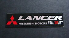 Lancer Evolution Mitsubishi Ralliart Negro Placa De Aluminio