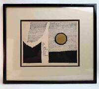 Mid Century Modern Lorraine Allen Signed Numbered Print Abstract Art 1969