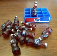 Doll House Accessories 1:12th Miniature - Pepsi bottles & crate
