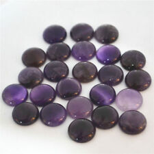 Natural amethyst round stone beads 16mm round CAB CABOCHON 20pcs for jewelry