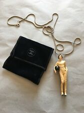 Chanel Keira Knightly 3-D Doll Necklace Collectible VIP Gift Coco Mademoiselle