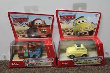 2-SET LUIGI & TOW MATER PULLBAX Disney Pixar Cars 2005 Original Collectible NEW