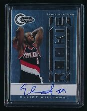 ELLIOT WILLIAMS 2010-11 TOTALLY CERTIFIED JERSEY RC AUTO 354/599 *TRAIL BLAZERS*