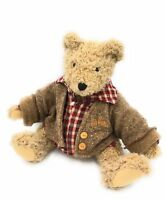 """MOULIN ROTY JOINTED TEDDY BEAR SOFT TOY 16"""" JOINTED ARMS LEGS & HEAD & CLOTHES"""
