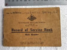WW2 AMF OFFICER - RECORD OF SERVICE BOOK - ORIGINAL