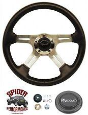 "1970-1976 Duster Valiant steering wheel PLYMOUTH 4 SPOKE 14"" Grant"