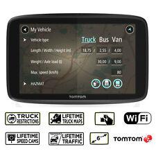 TomTom GO professionnel 6250 TRUCKER Camion Bus Van Lifetime Traffic & carte mises à jour