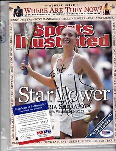Maria Sharapova Autograph on Magazine PSA Cert Sports Illustrated Auto Swimsuit