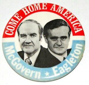 1972 GEORGE MCGOVERN EAGLETON campaign pin pinback button political presidential
