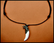 "WOLF FANG PENDANT - Adjustable length 16"" - 31"""
