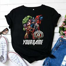 Personalised Marvel T-Shirt, Marvel Comics Spiderman Gift Kids Adults Tee Top