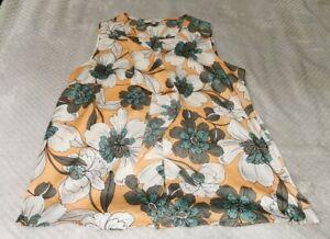 Next | Peach Floral Top | Sleeveless | Size 16 |