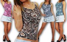 Ärmellose taillenlange Damenblusen, - tops & -shirts aus Viskose