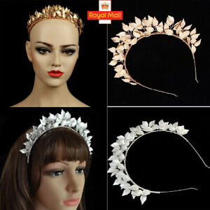 Leaf Leaves Laurel Greek Roman Costume Band Wedding Bride Crown Hair Headband