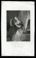 Clara Mowbray 1850 J. hindermaur-Francis Philip STEPHANOFF antique Gravure