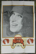 Bette Midler The Divine Miss M 1972 Us Promo Only Poster Incredible ! Minty!