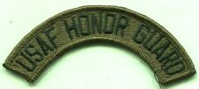 US Air Force USAF Honor Guard OD Sudued Patch Tab