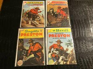 (7) 1950s/1960s SPANISH DELL SILVER AGE western COMICS - PRESTON - RIN TIN TIN