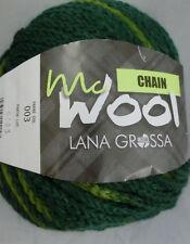 100 g McWool Chain, Lana Grossa, Fb. 03 Grüntöne - schön für Mützen #2127