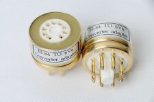 1Piece TOP GOLD PLATED EL84 6BQ5 6P14 TO 6V6GT TUBE CONVERTER ADAPTER