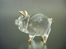 Curio Glass PIG PIGLET Miniature Animal Glass Ornament Glass Animal Figure Gift