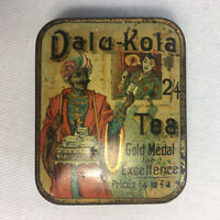 "Rare Antique c.1895  ""DALU-KOLA"" Tea Sample Tin - Exceptional Condition"